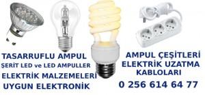 Kuşadası Elektrik malzemeleri ve tasarruflu ampul ve ampul çeşitleri