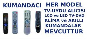 Kuşadası kumandacı, her model televizyon, LCD, LED TV, Plasma TV, HD ve SD uydu alıcıları, DVD oynatıcı, klima ve akıllı kumanda çeşitleri elimizde mevcuttur.