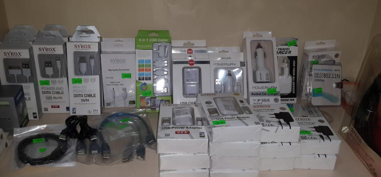 Kuşadası cep telefonu, şarj kablosu, şarj cihazı, bilgisayar malzemeleri