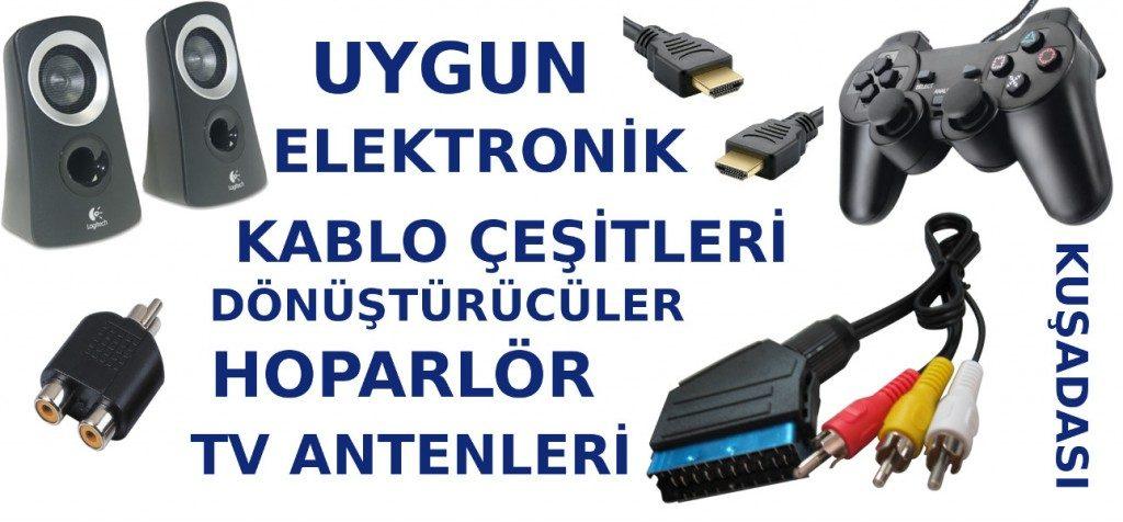 Kuşadası elektronik malzemesi, televizyon anteni, kumanda, hoparlör ve hdmi, scart görüntü ve ses kablo, lehim havya, usb uzatma kabloları satışı